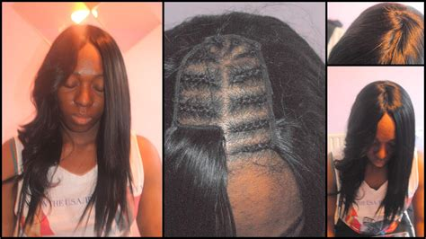middle pattern haircuts hairstyles with middle part sew in closure