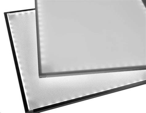 edge lit led edge lit light panel for backlighting led and