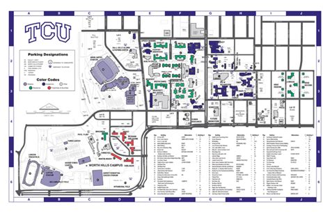 texas christian university map tcu koehler center events
