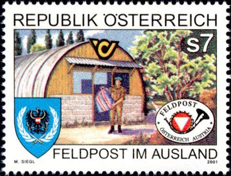 Kultur Multikultural Postkultur feldpost im ausland 2001 briefmarken kunst und