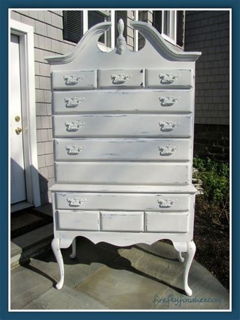 Beautiful Queen Anne highboy dresser. Painted in Annie