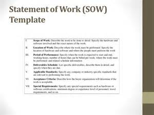 Procurement Statement Of Work Template by Procurement Ops450