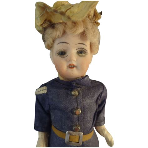 6 bisque doll 6 quot german bisque doll in original glass