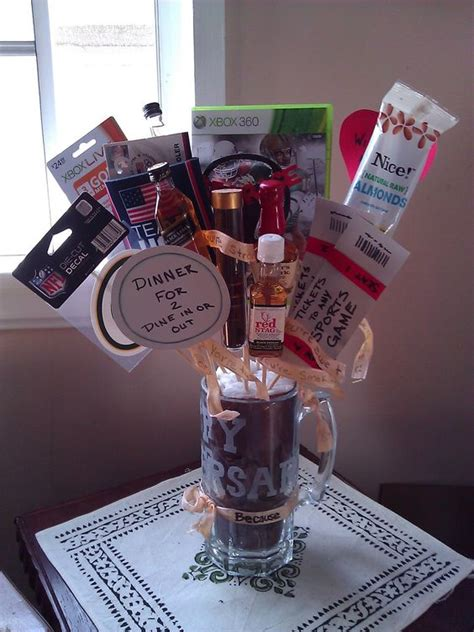 Wedding Anniversary Gift Basket For Him by 2 Year Anniversary Gifts And Gift Baskets On