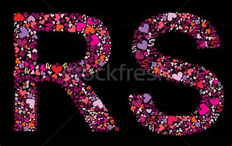 Letter R, S. Valentine alphabet vector illustration ... R Alphabet Love Wallpaper