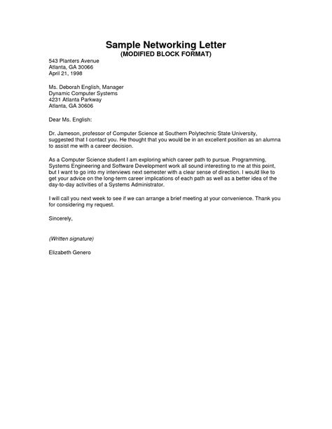 Business Letter Format Modified Block application letter modified block style sle 28 images