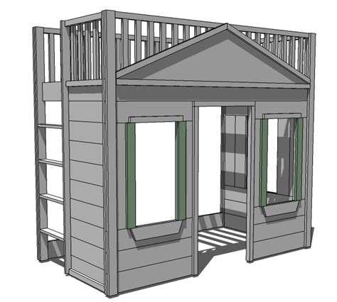 blueprints  loft bed  stairs