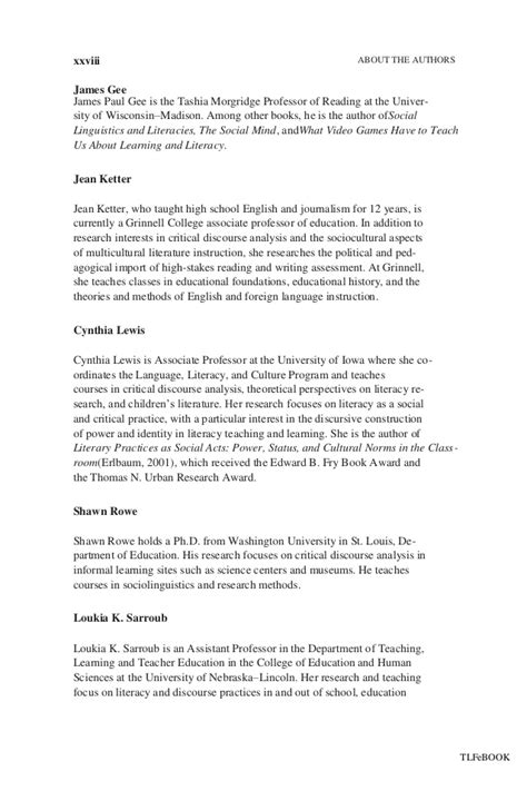 Critical Essay Introduction Exle by An Introduction To Critical Discourse Analysis In Education New
