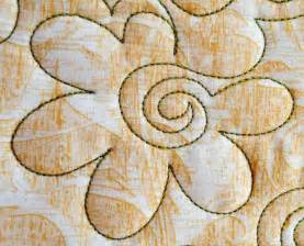 free motion quilting with flowers machine quilting