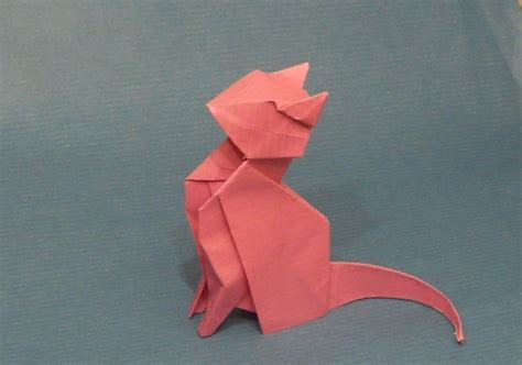 Origami Sitting - origami cat by orestigami on deviantart