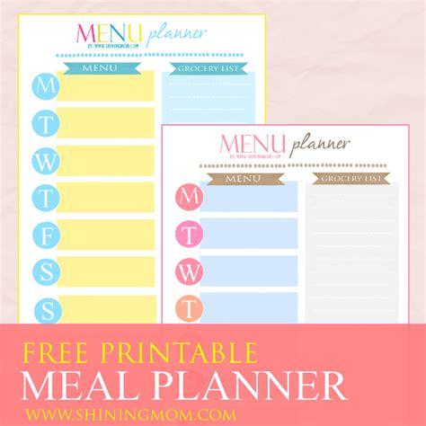 printable planner cover 2015 freebie monday weekly meal planner