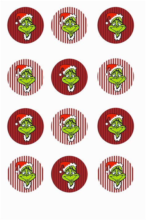 printable grinch stickers free printable collage sheets free bottle cap 1 quot circle