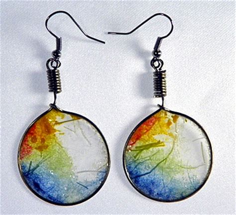 How To Make Paper Earrings - translucent rice paper earrings as droplets jewelry and