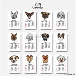 Calendar 2018 Dogs Quot Happy Dogs Calendar 2018 Design New Year
