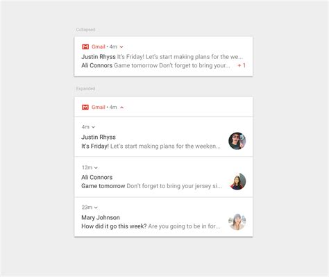 android notification pattern notifications patterns material design guidelines