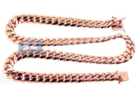 Handmade Cuban Link Chain - handmade 18k gold miami cuban link mens chain 16 mm