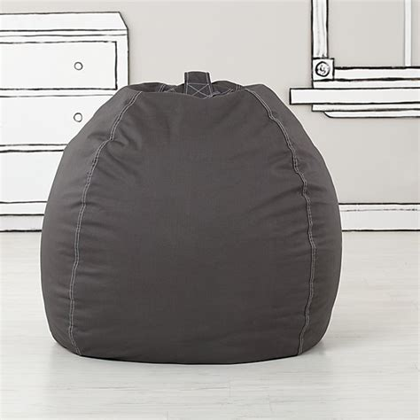grey bean bag chair large grey bean bag chair the land of nod