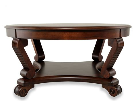 reeded leg traditional cocktail table in brown