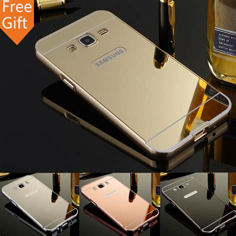 Aluminium Bumper Mirror Samsung Galaxy J1 2016 J120 aliexpress buy for samsung j120f mirror back cover aluminum metal frame acrylic