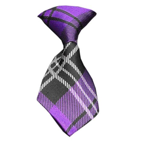 Plaid Neck Tie plaid neck tie purple baxterboo