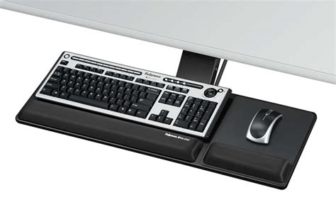 How To Add A Keyboard Tray To A Desk by Fellowes Designer Suites Compact Keyboard