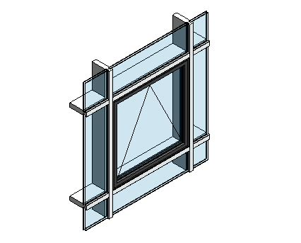 curtain wall window revit aluk 58bw st open out window curtain wall insert bimstore