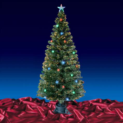 green fibre optic artificial christmas tree multi led
