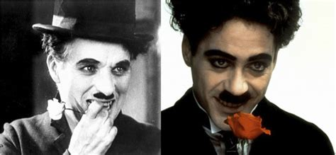charlie chaplin biography movie robert downey jr 50 side by side comparisons of actors and the people they
