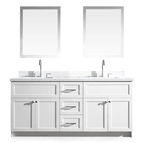 bathroom vanity with top and mirror shop ariel hamlet white undermount double sink asian