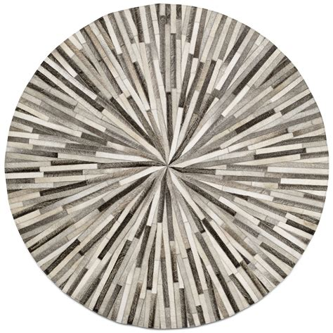 Rounds Rugs Grey Cowskin 150cm Diameter Contemporary Rugs Quality From Boconcept Rug
