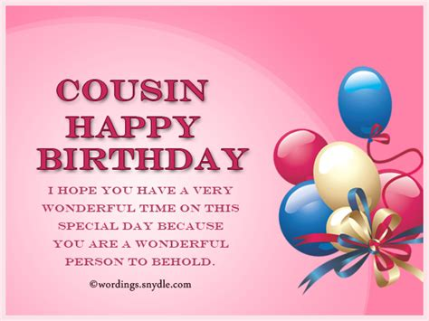 Birthday Quotes For A Cousin Birthday Wishes For Cousin Wordings And Messages
