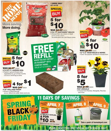 home depot black friday deals on mulch