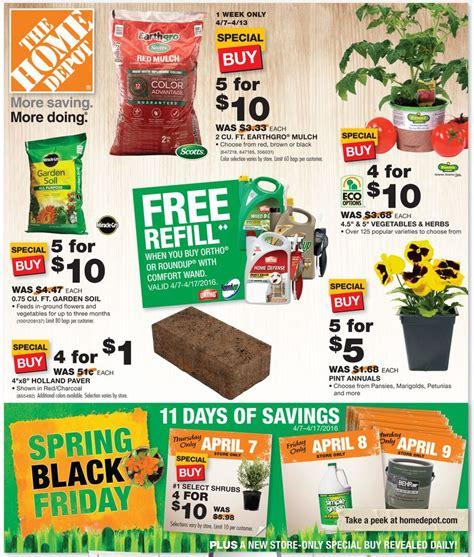 home depot black friday deals on mulch