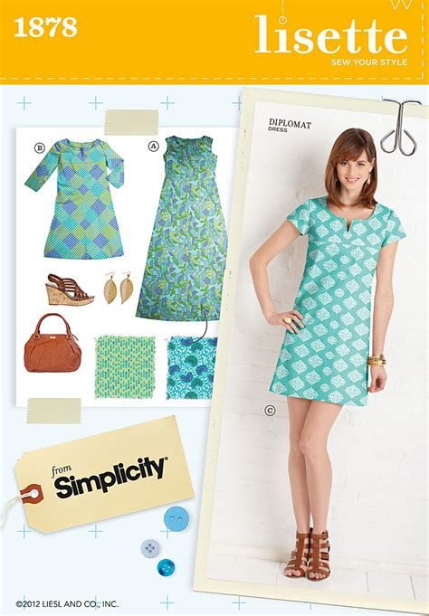 pattern sewing simplicity simplicity 1878 misses dresses