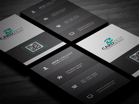 Business Card Vertical Template Free by Free Clean Vertical Business Card Template By Mengloong On