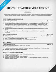 Mental Health Counselor Sle Resume by The World S Catalog Of Ideas
