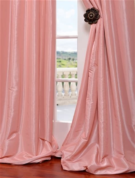 faux silk pink curtains shop discount curtains drapes blackout curtains more