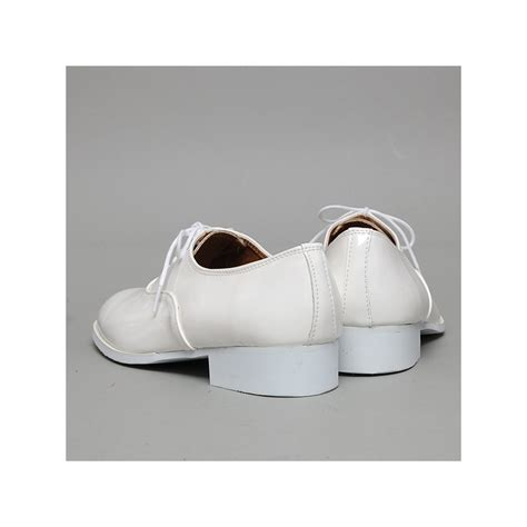 white oxford shoes mens s glossy white oxford shoes