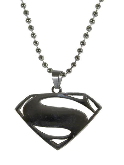 superman man of steel logo necklace buy online at