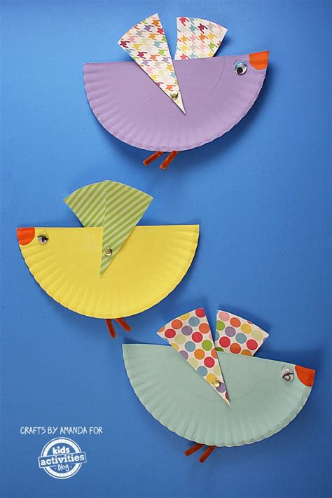 Paper Plate Bird Craft - 100 paper plate crafts for tgif this is