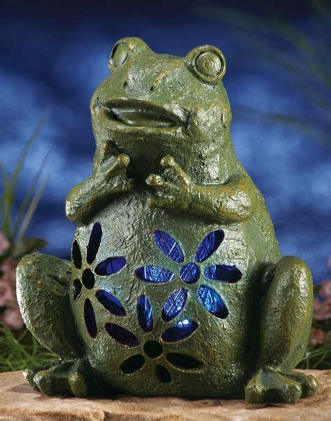 frog solar lights solar light garden frog outdoor yard statue home decor