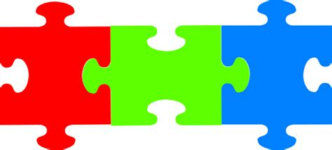 Pieces Of Three puzzle clipart three pencil and in color puzzle clipart