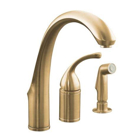 kitchen faucet valve kohler k 10430 bv vibrant brushed bronze forte single
