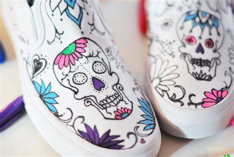 Sepatu Murah Vans Skull misyelle store diy sugar skull day of the dead vans