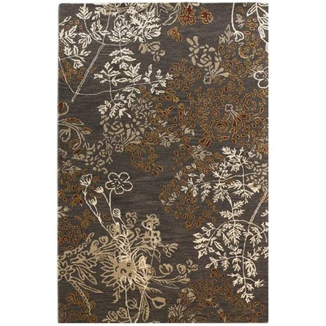 home accents rug collection linon home decor ashton collection charcoal and gold 5 ft