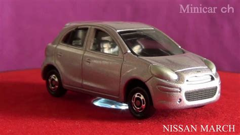 tomica nissan march tomica no 012 nissan march youtube