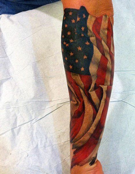 american flag tattoos sleeves top 60 best american flag tattoos for usa designs