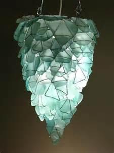 sea glass chandeliers chandelier from sea glass lighting fixtures