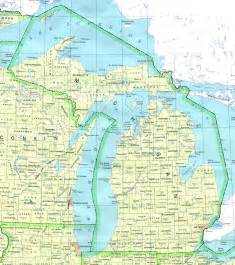 County Map Of Michigan by Michigan Base Map
