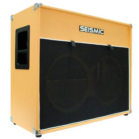 seismic audio 2x12 empty guitar speaker cabinet orange